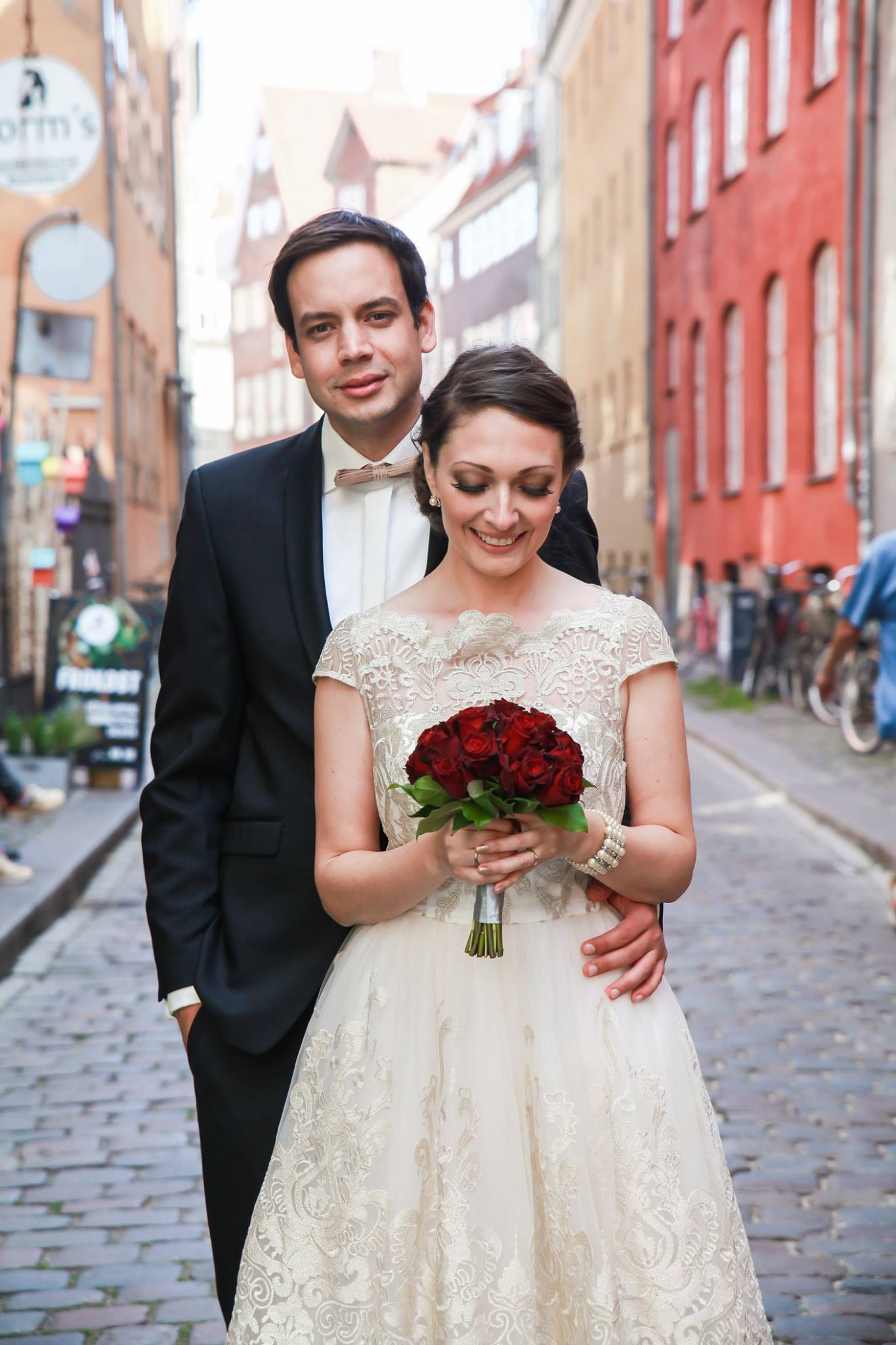 Married couple in copenhagens streets