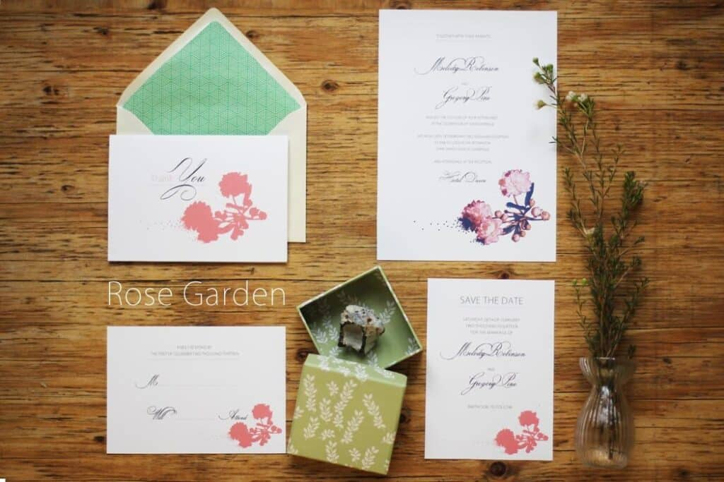 Free Thank You Card Printable, Garden Rose - Getting Married in Denmark